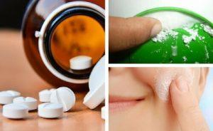 Máscara Facial de Aspirina - Contra Espinhas, Cravos e Manchas
