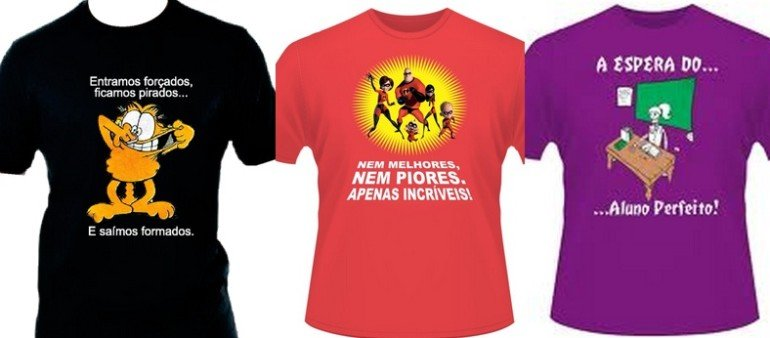 Camisetas de Formandos 2020 - Modelos, Frases e Desenhos