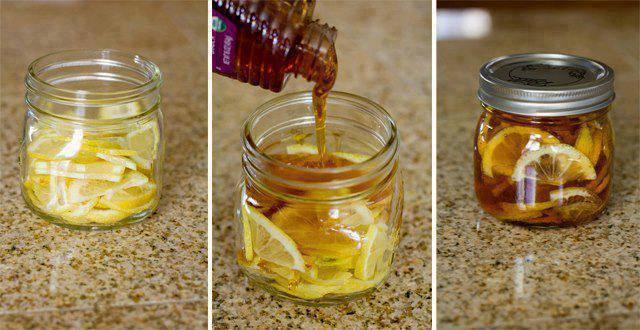 Xarope de mel, limão e gengibre para tosse