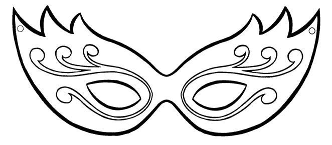 Molde de Máscaras de Carnaval para Imprimir