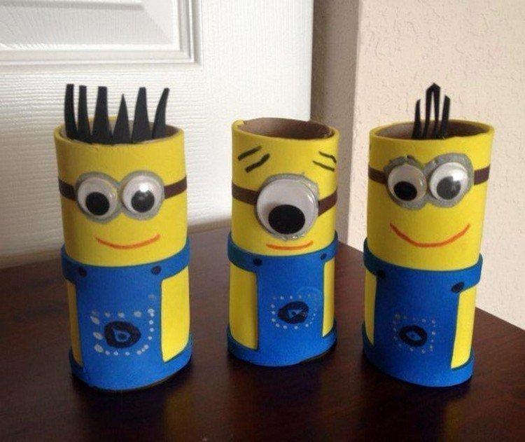 brinquedos reciclados com rolo de papel higiênico