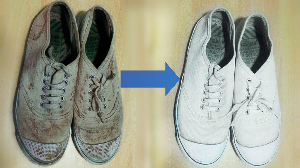 como limpar tênis branco
