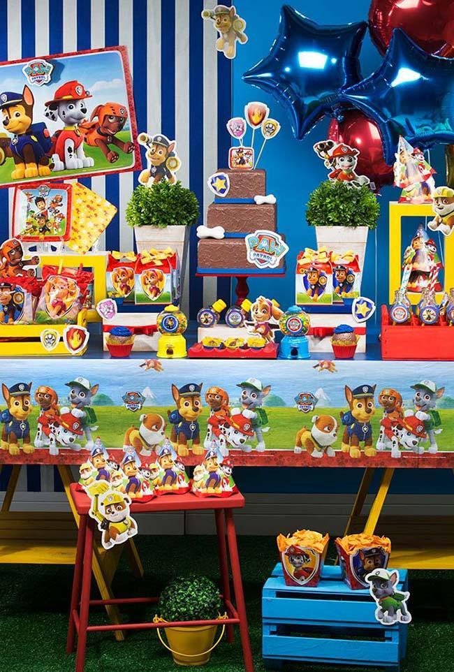 decoração patrulha canina