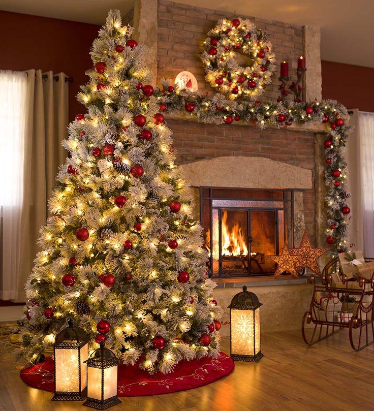 modelos de árvores de Natal decoradas