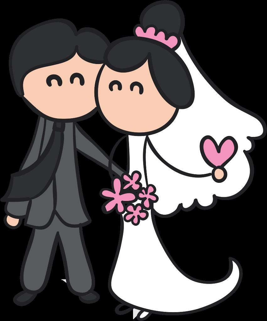 Noivinhos para Convite de Casamento